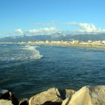 The beach of Viareggio